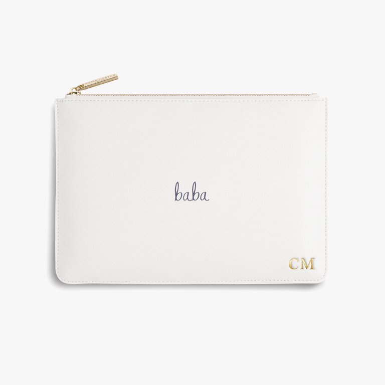 Perfect Pouch Baba In White