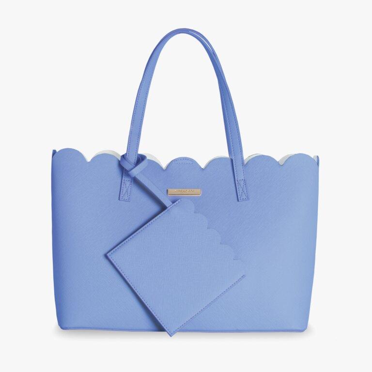 Pretty Poppy Scallop Handbag In Cobalt Blue