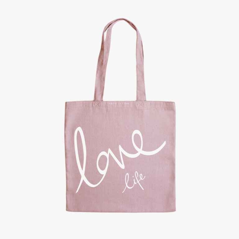 Canvas Bag Love Life In Pink
