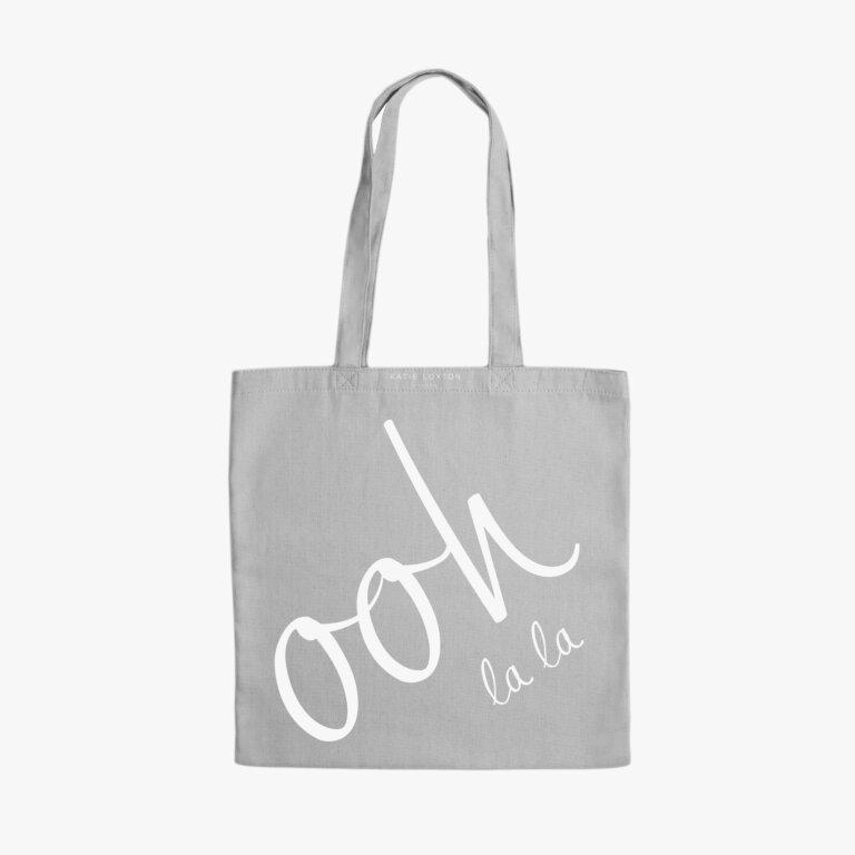 Canvas Bag Ooh La La Light In Grey