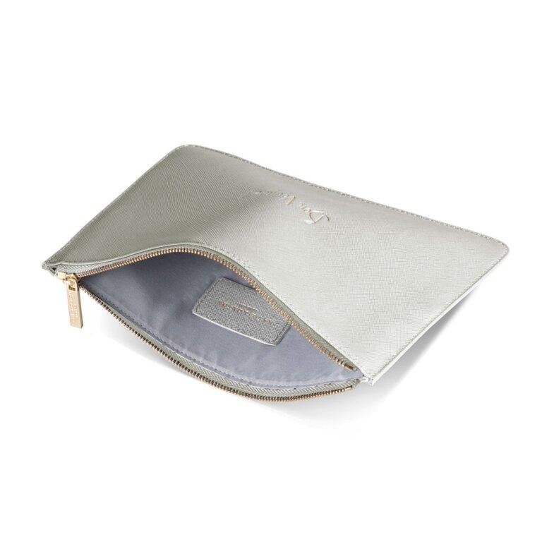 Perfect Pouch | Bon Voyage | Metallic Silver