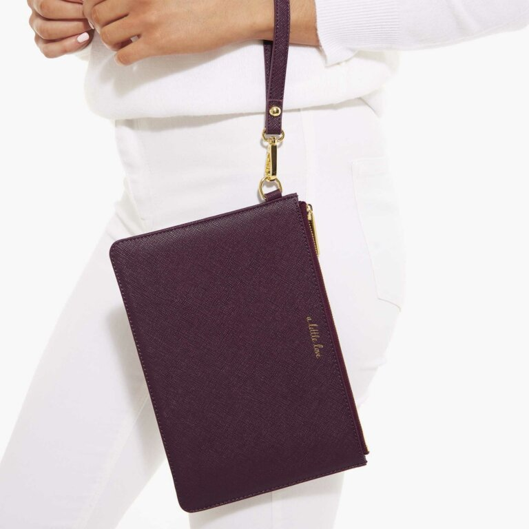 Secret Message Pouch A Little Love In Mulberry