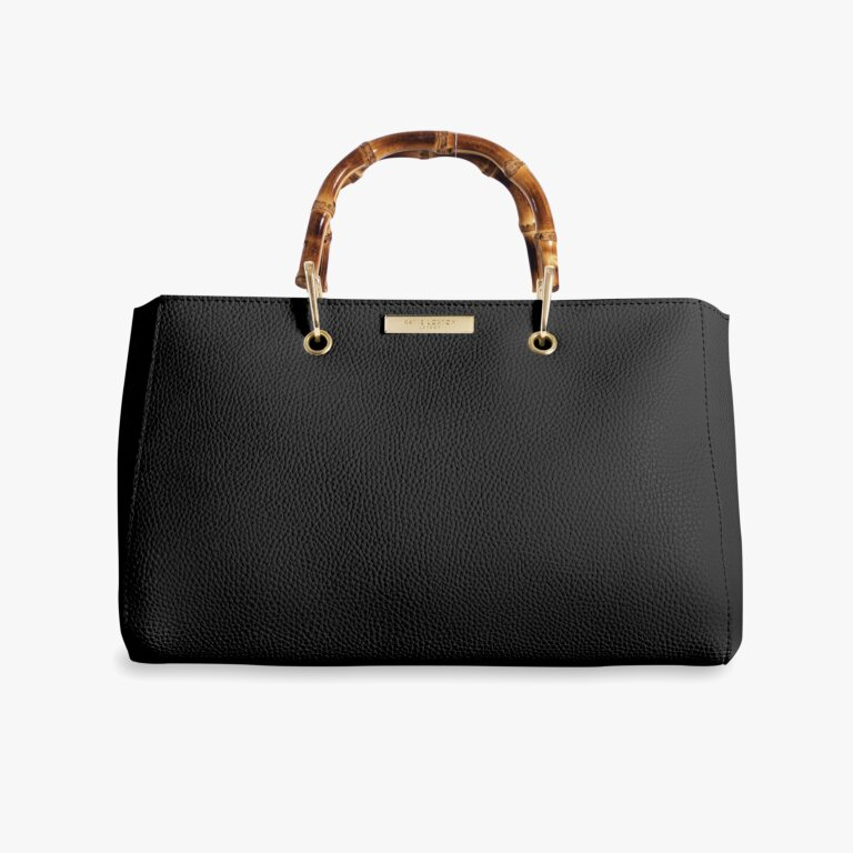 Avery Bamboo Bag In Black