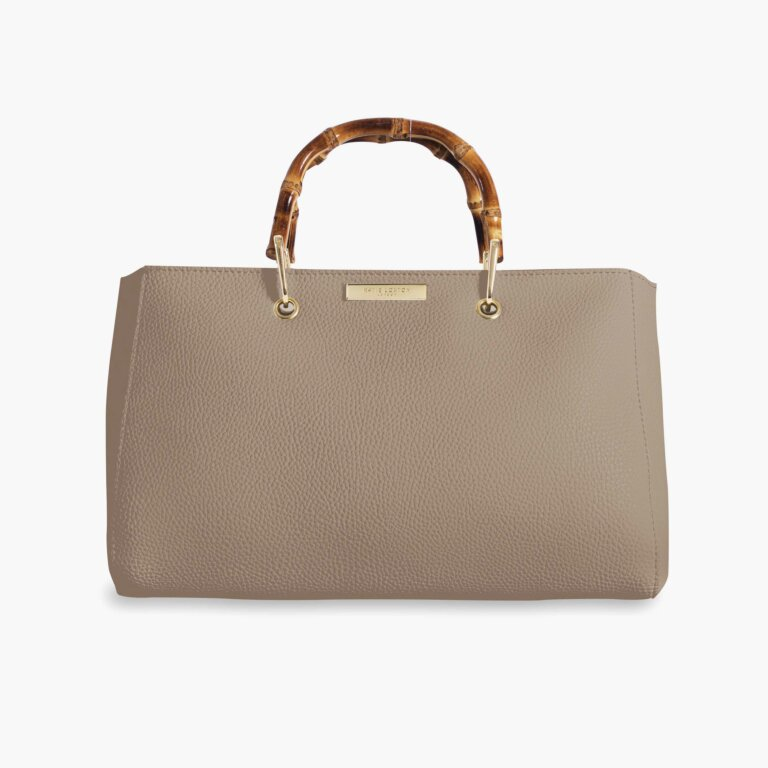 Avery Bamboo Bag In Taupe