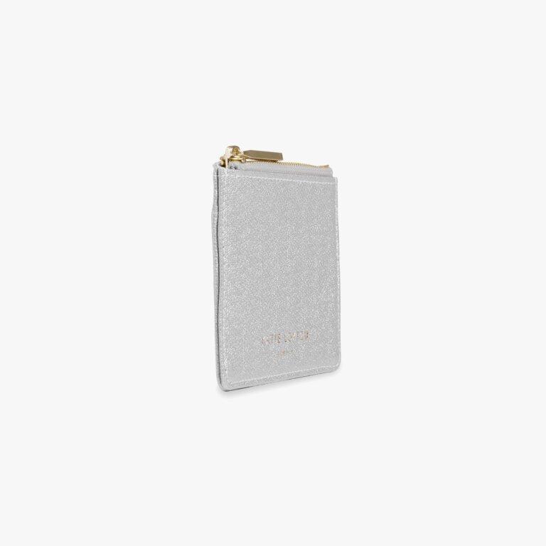 Alexa Shimmer Card Holder In Silver
