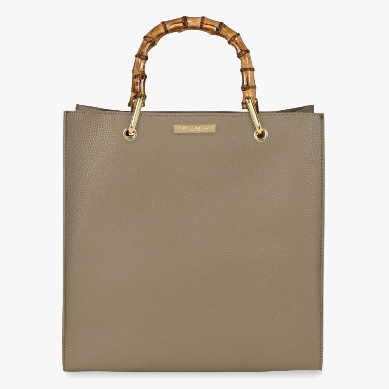 Amelie Bamboo Bag In Taupe