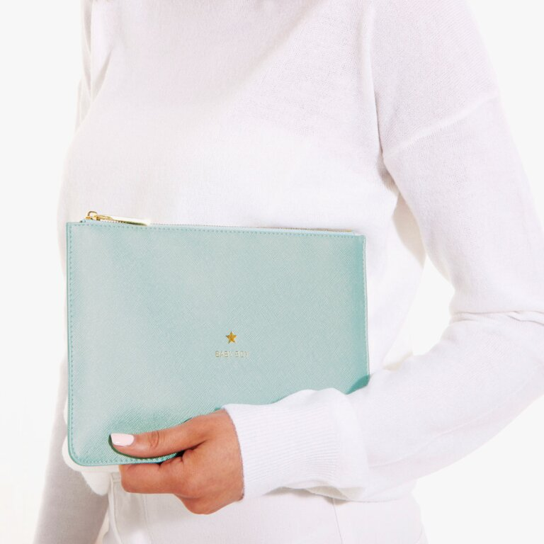 Perfect Pouch Baby Boy In Metallic Blue