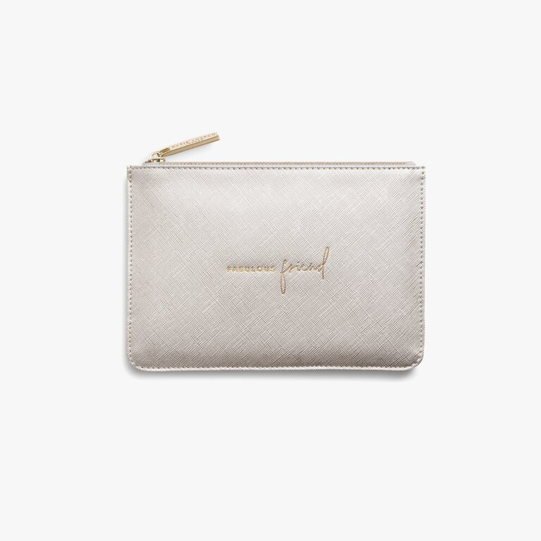 Perfect Pouch Gift Set Fabulous Friend In Light Grey