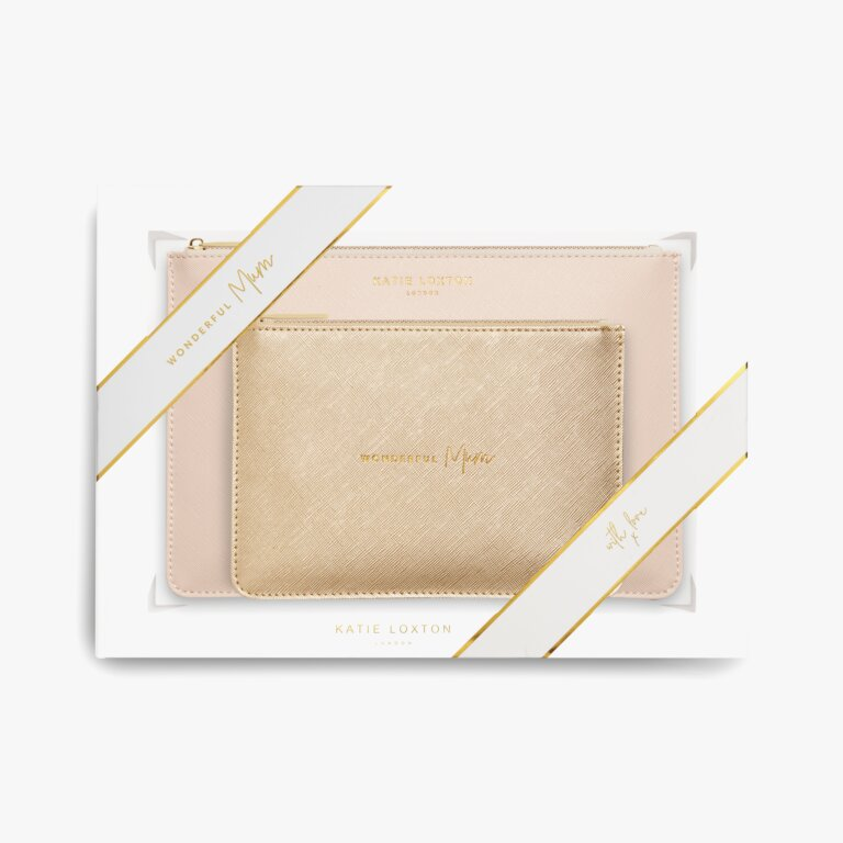 Perfect Pouch Gift Set Wonderful Mum In Oyster Pink