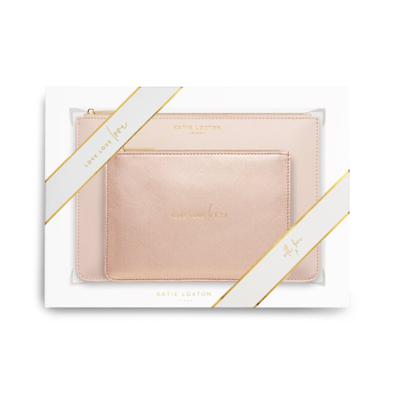 Perfect Pouch Gift Set Love Love Love In Pink