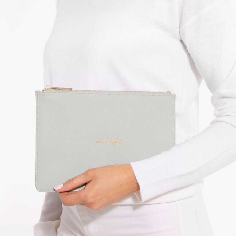 Perfect Pouch Super Sister In Pale Grey