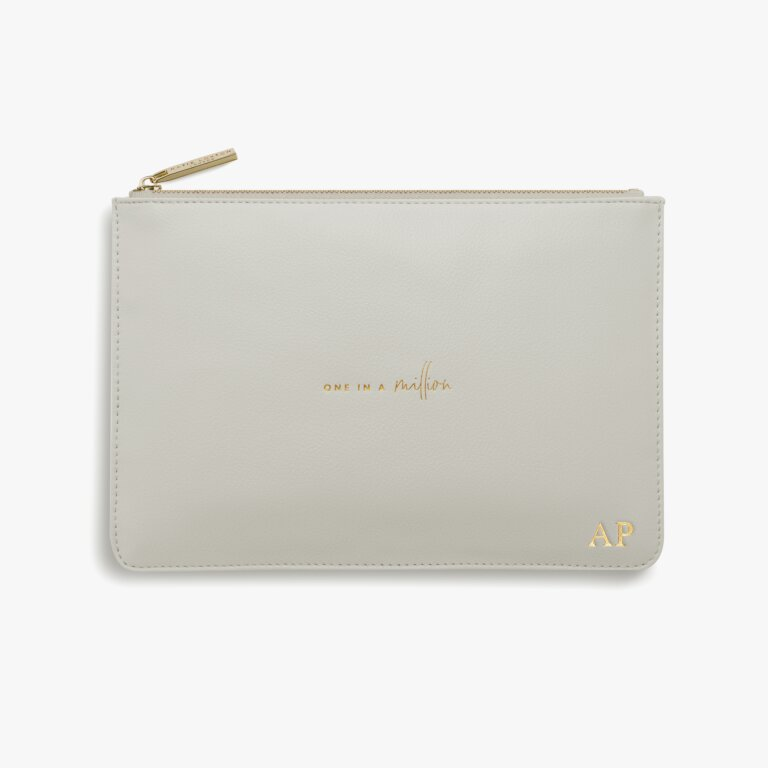 Perfect Pouch One In A Million In Pale Grey