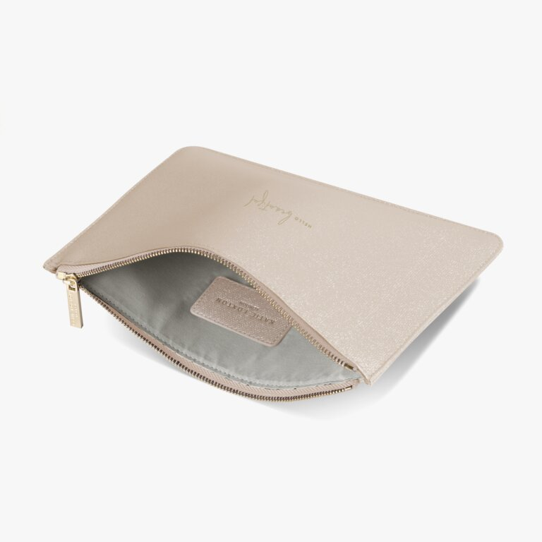 Perfect Pouch Hello Beautiful In Dusty Pink