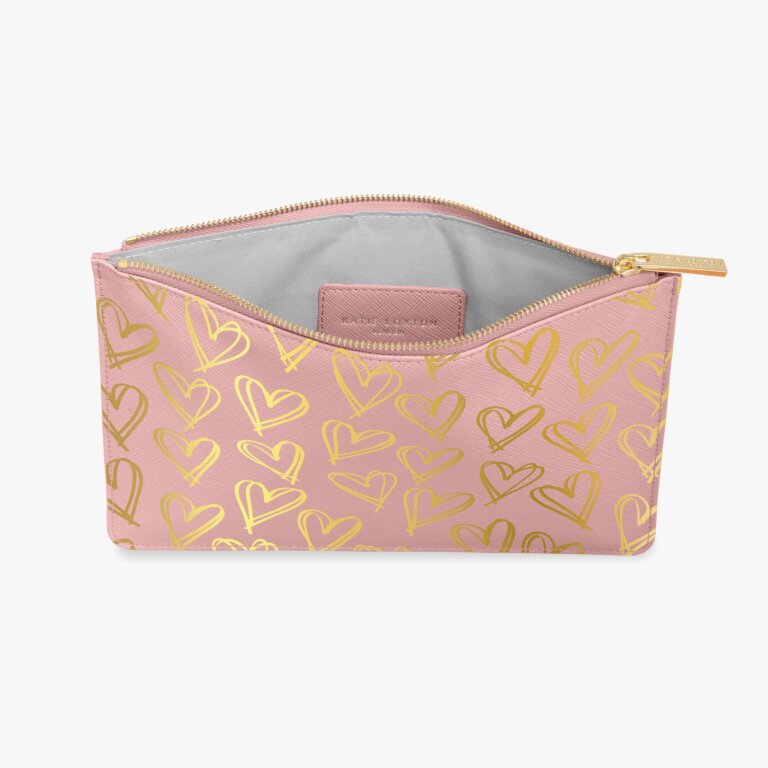 Perfect Pouch Heart Print