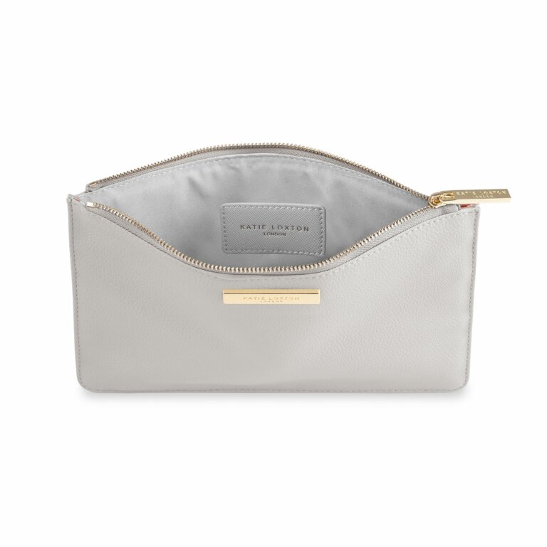 Soft Pebble Pouch | Pale Grey