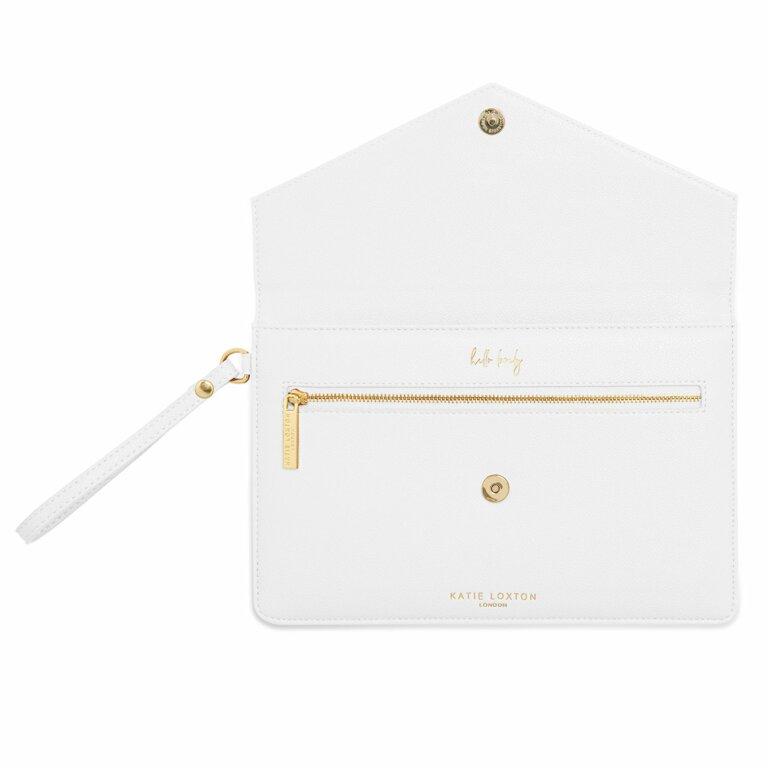 Esme Envelope Clutch Bag | White