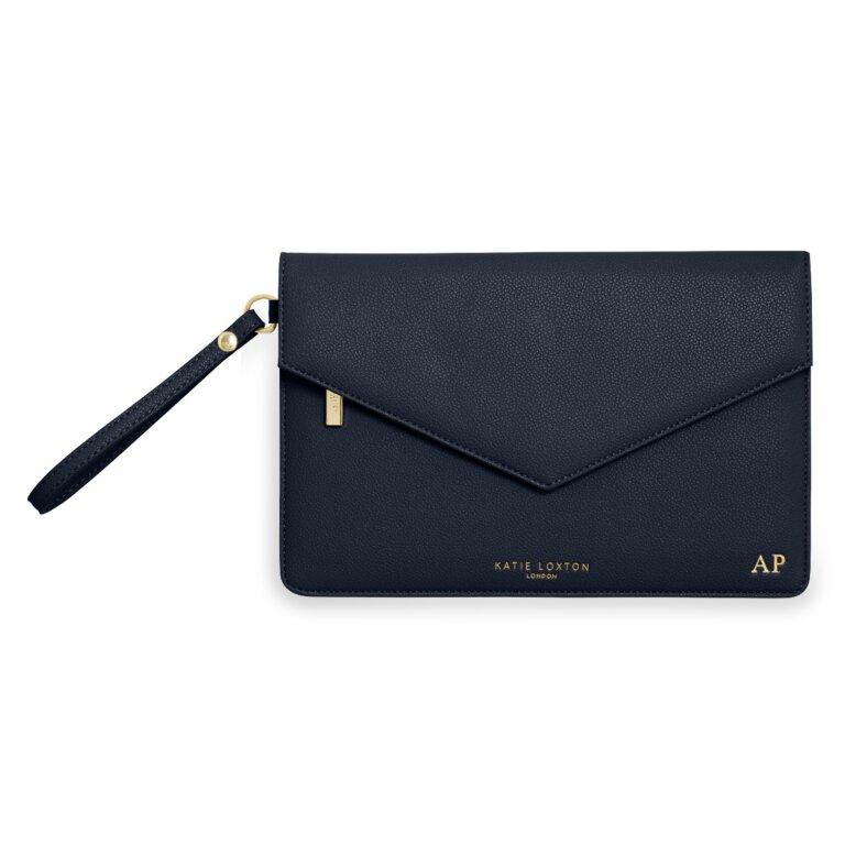 Esme Envelope Clutch Bag   Navy