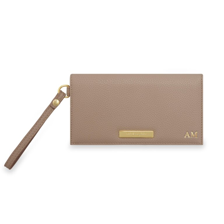 Cleo Wristlet In Taupe