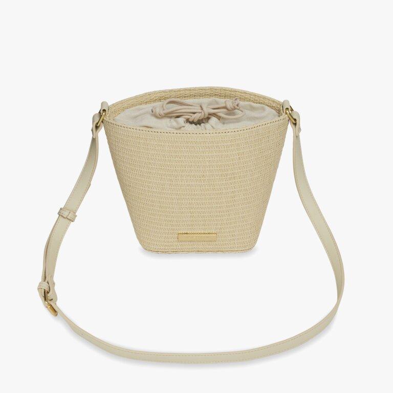 Callie Straw Crossbody Bag In Natural