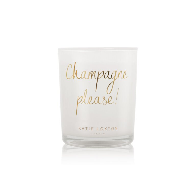 Champagne Please Candle   Pink Champagne And Sweetheart Strawberry