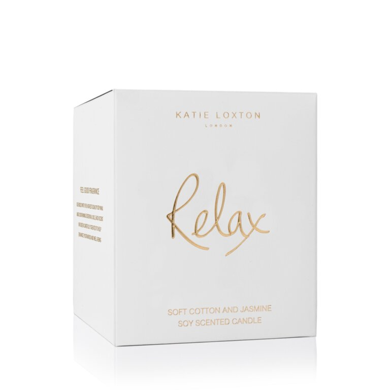Relax Candle | Soft Cotton And Jasmine