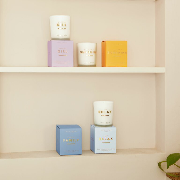 Sentiment Candle And Relax White Orchid And Soft Cotton