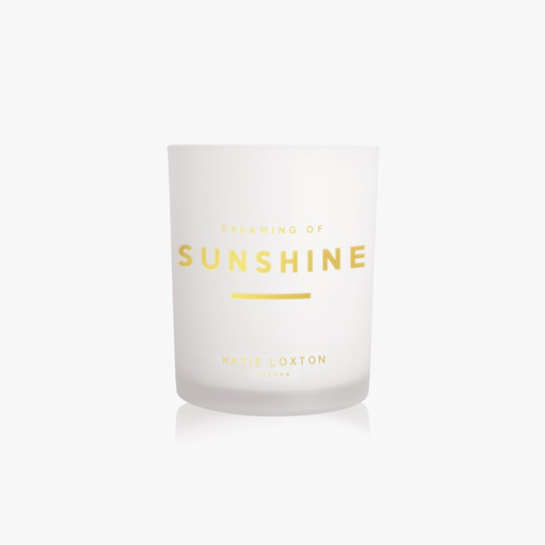 Sentiment Candle Dreaming Of Sunshine Pomelo And Lychee Flower