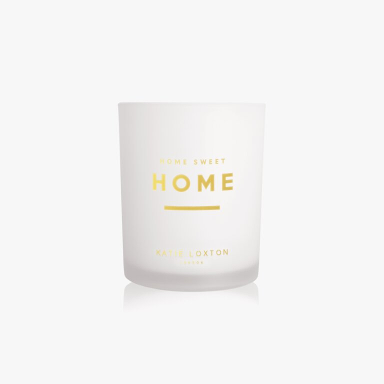 Sentiment Candle Home Sweet Home White Orchid And Soft Cotton