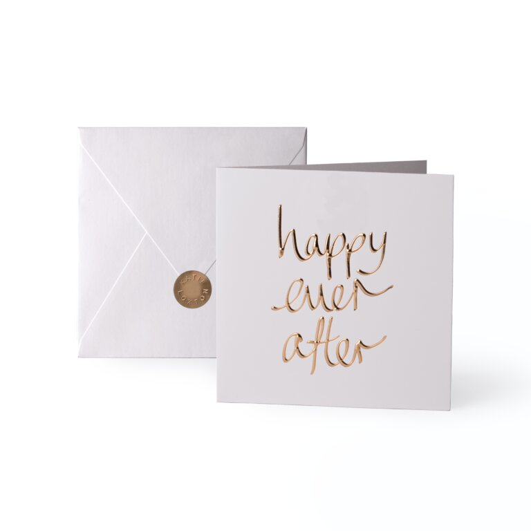 Greeting Card Happy Ever After Gold Writing