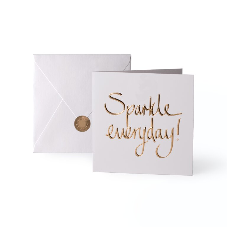 Greeting Card Sparkle Everyday Gold Writing