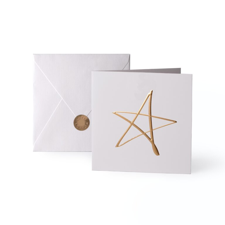 Greeting Card Star Gold Writing