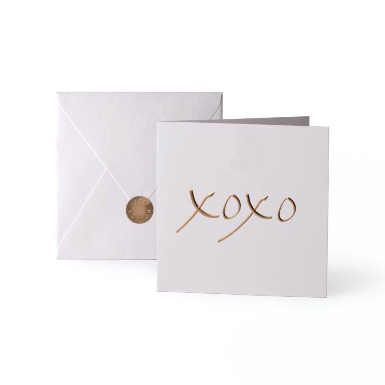 Greeting Card Xoxo Gold Writing