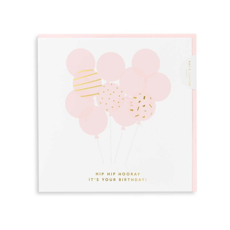 Square Greeting Card Hip Hip Hooray It's Your Birthday