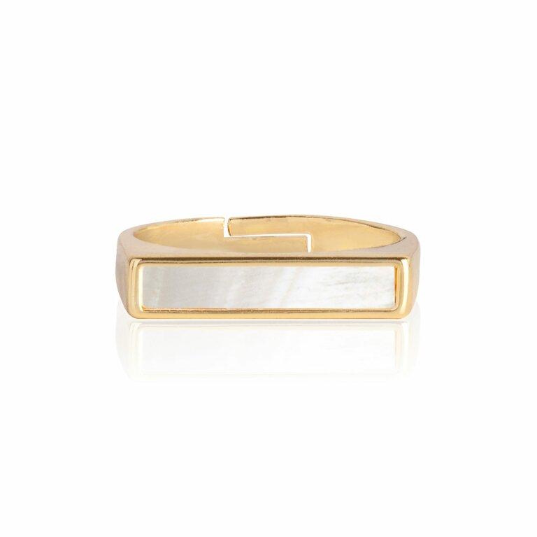 Shona Shell Bar Ring