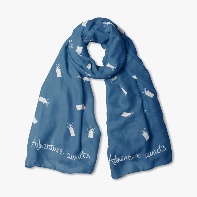 Sentiment Scarf Adventure Awaits In Navy