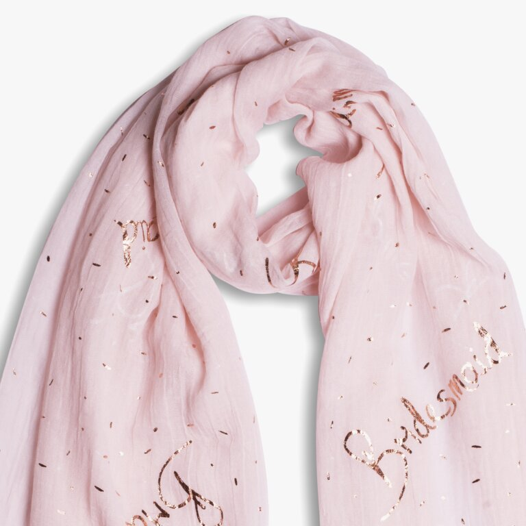 Sentiment Scarf Bridesmaid In Blush Pink
