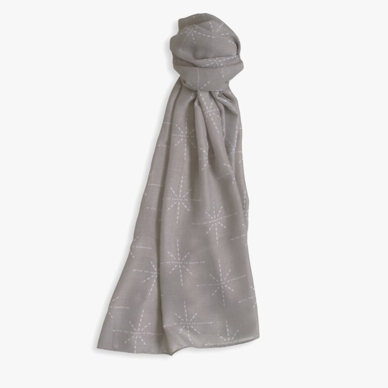 Sentiment Scarf Tis The Season To Sparkle In Charcoal