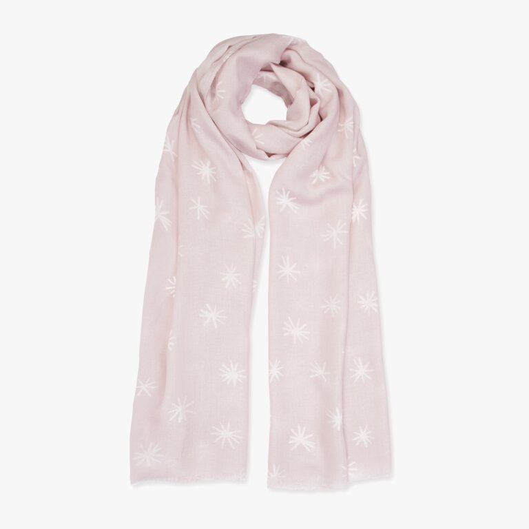 Sentiment Scarf Fabulous Friend In Nude Pink And White