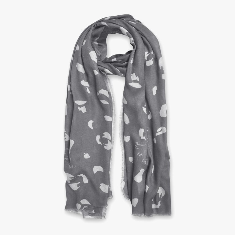 Sentiment Scarf Oh So Chic In Charcoal And Pale Grey