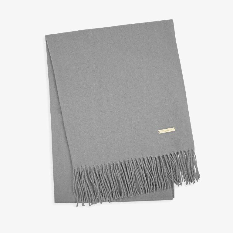 Thick Plain Scarf Grey
