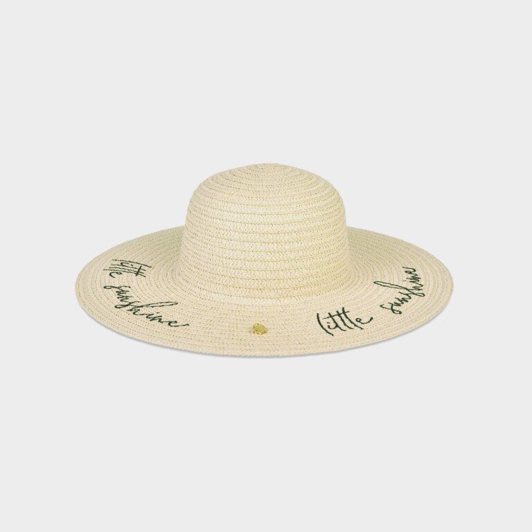 Children's Straw Hat Little Sunshine In Vanilla