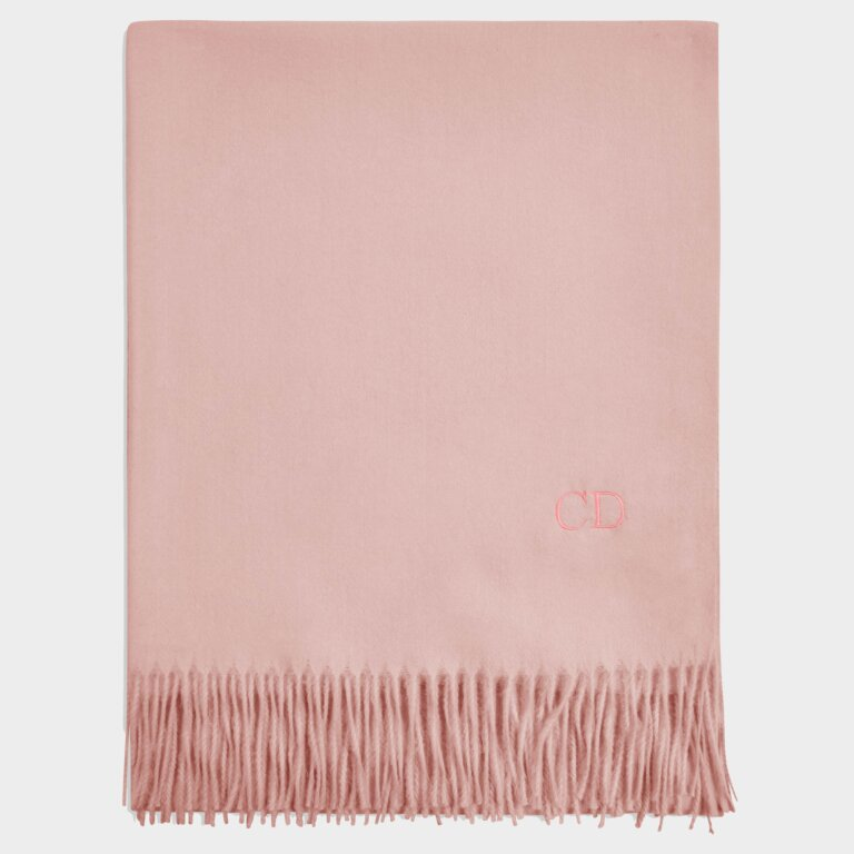 Thick Plain Scarf in Pale Pink