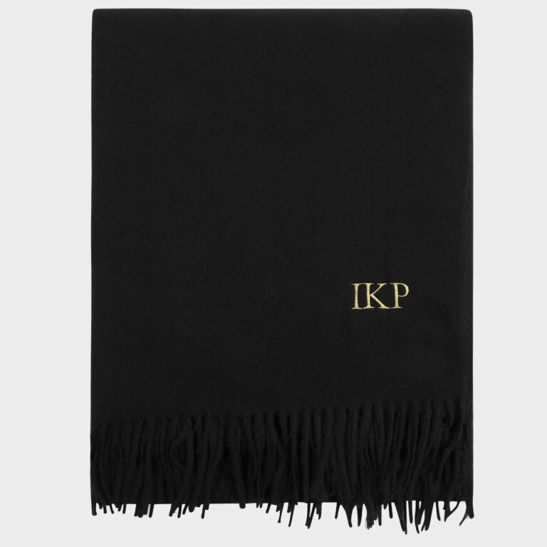 Blanket Scarf Sustainable Style in Black