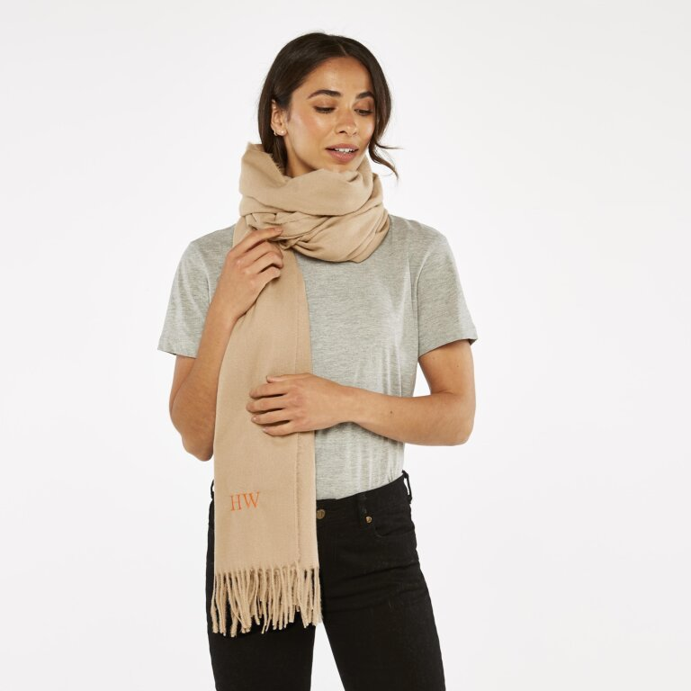 Blanket Scarf Sustainable Style in Caramel