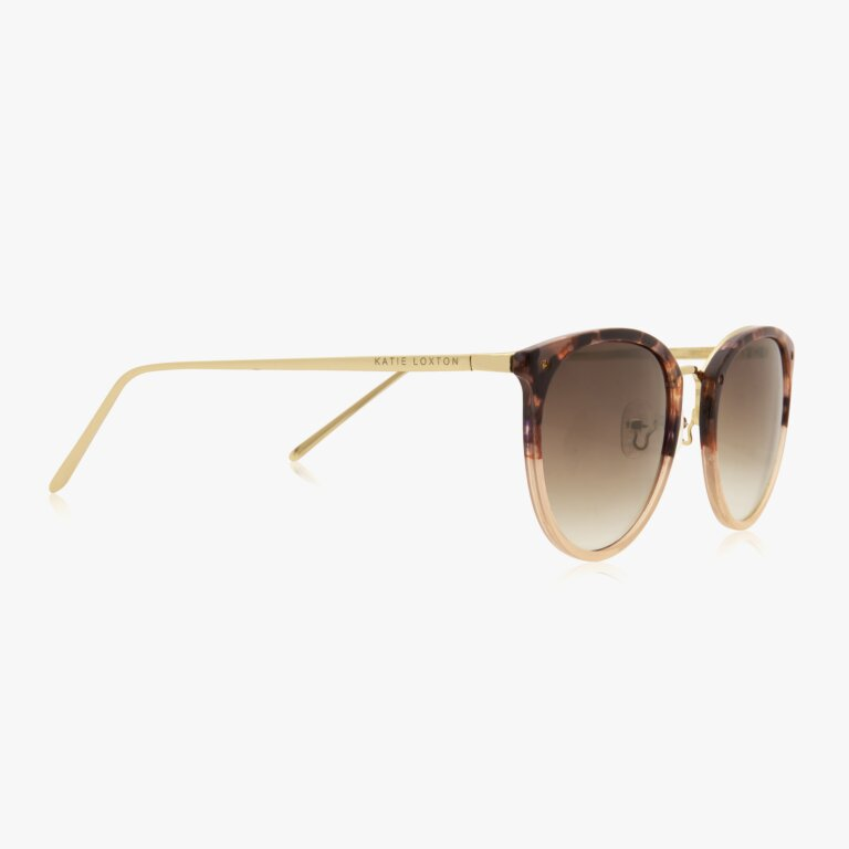 Santorini Sunglasses In Tortoiseshell And Pink