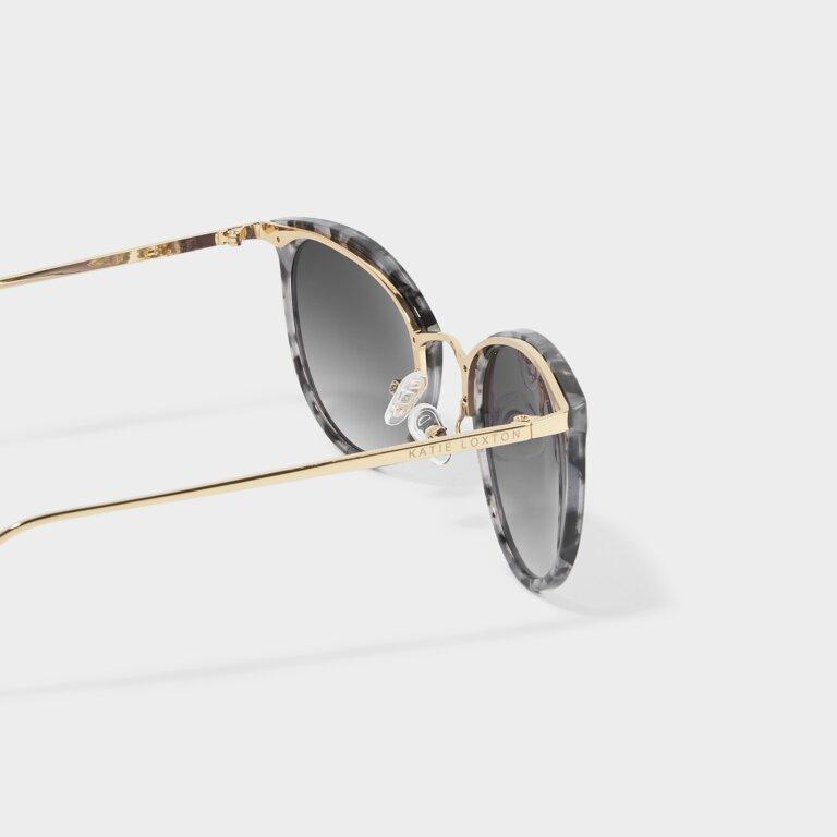 Santorini Sunglasses in Grey Tortoiseshell