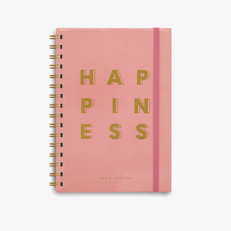 Spiral Bound Notebook Happiness In Coral