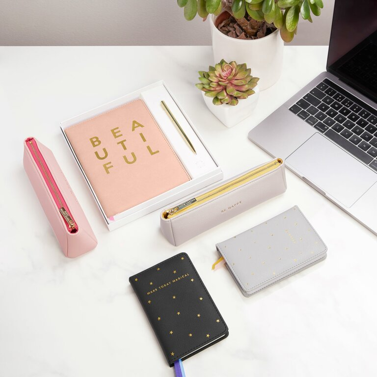 Beautifully Boxed Mini Notebook And Pen Set Make Today Magical In Black