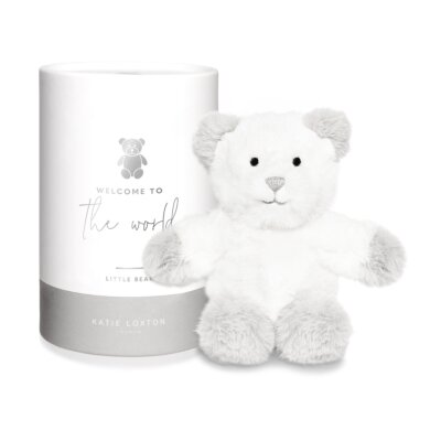 Loxley Bear Baby Toy Welcome To The World In Grey