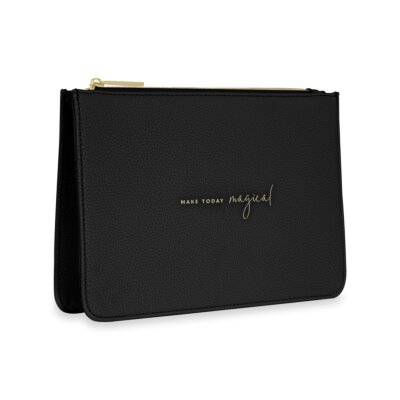Stylish Structured Pouch Make Today Magical In Black